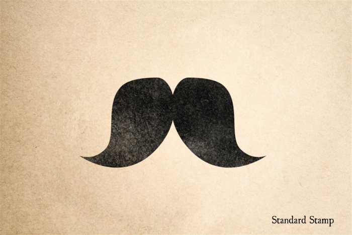 Fat Mustache Rubber Stamp