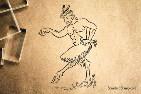 Faun Rubber Stamp