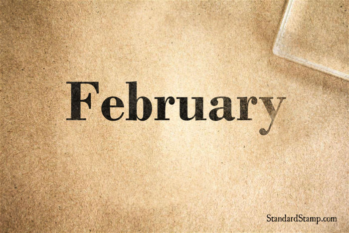 February Rubber Stamp