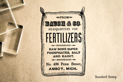 Fertilizer Bag Rubber Stamp