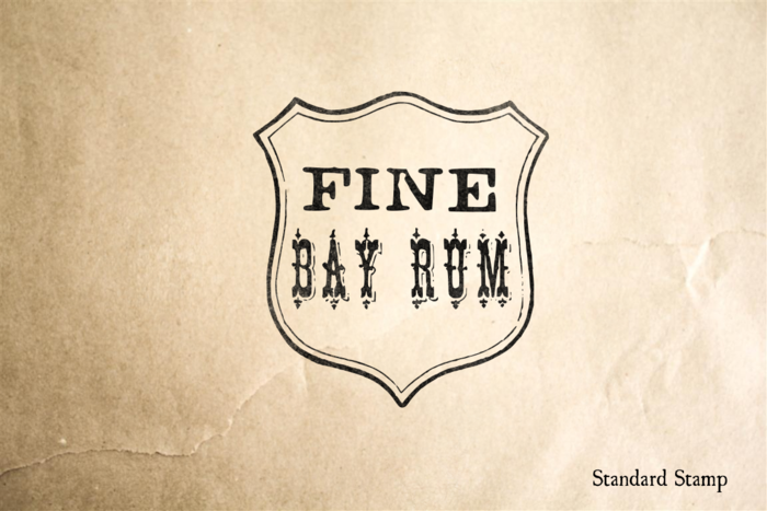 Fine Bay Rum Rubber Stamp