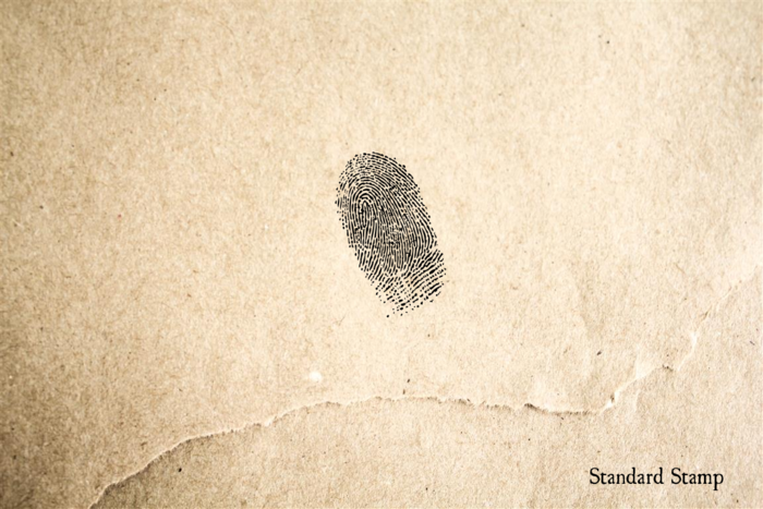 Fingerprint 2 Rubber Stamp
