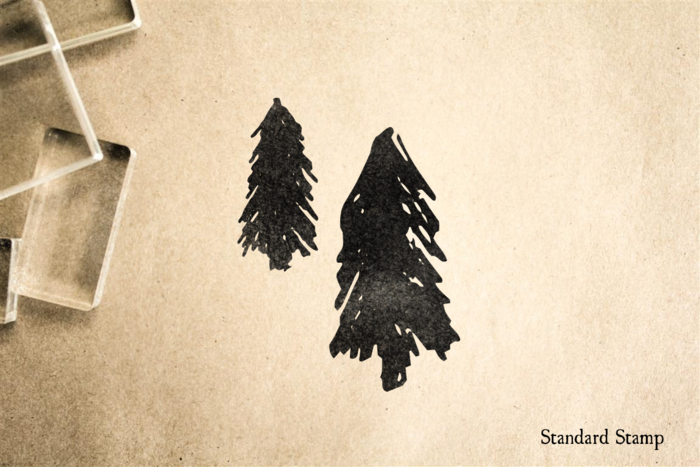 Fir Trees Rubber Stamp