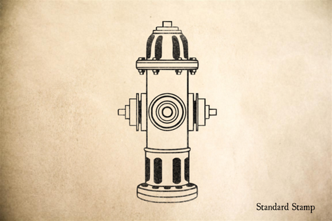 Fire Hydrant Rubber Stamp