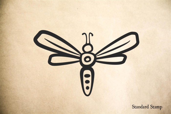 Firefly Cartoon Rubber Stamp