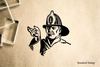 Fireman Rubber Stamp