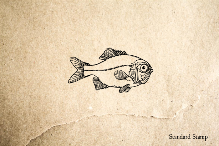 Big Eye Fish Rubber Stamp