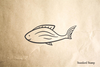 Fish Cartoon Rubber Stamp