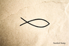 Fish Christian Rubber Stamp