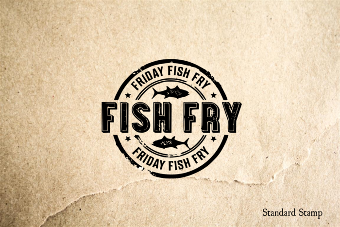 Fish Fry Sign Rubber Stamp