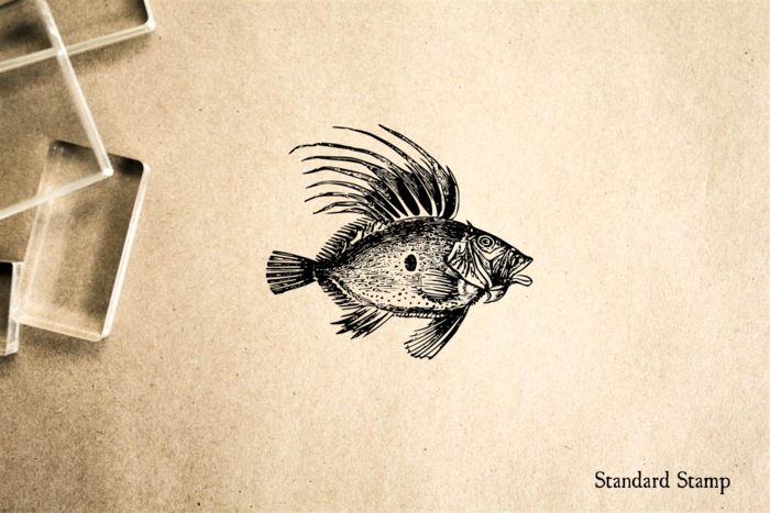 Spiny Fish Rubber Stamp