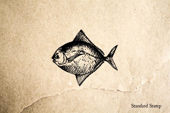 Sunfish Rubber Stamp