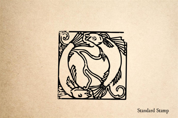 Fish Tile Rubber Stamp