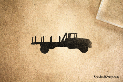 Flatbed Truck Rubber Stamp