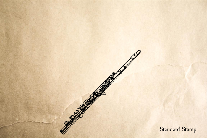 Flute Rubber Stamp