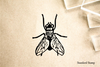 Fly Fruit Rubber Stamp