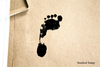 Footprint Left Realistic Rubber Stamp