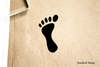 Footprint Left Stylized Rubber Stamp