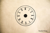 French Clock Rubber Stamp
