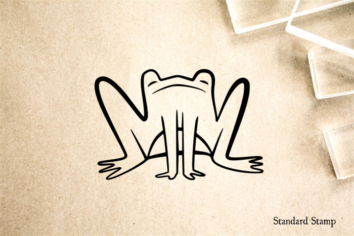 Frog Cartoon Rubber Stamp