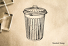 Garbage Can Rubber Stamp