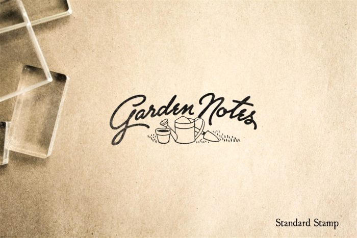 Garden Notes Rubber Stamp