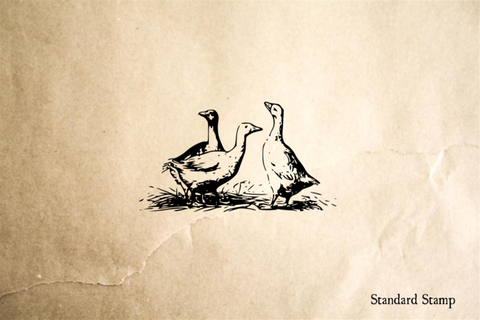 Geese Rubber Stamp