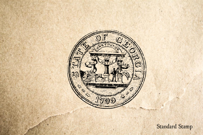 Georgia State Seal Rubber Stamp