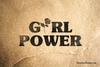 Girl Power Rose Rubber Stamp