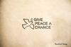 Give Peace a Chance Rubber Stamp