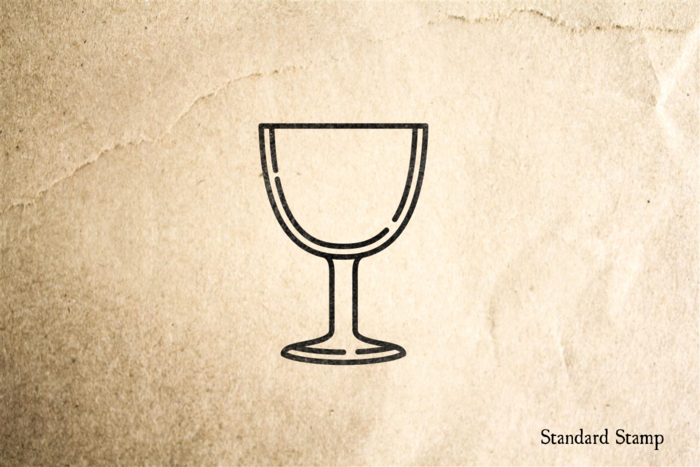 Goblet Beer Glass Rubber Stamp