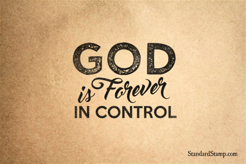 God is in Control Rubber Stamp