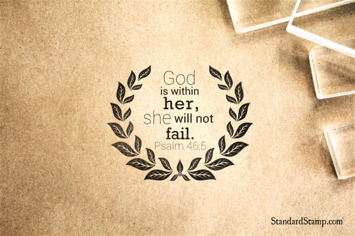 God is in Her Rubber Stamp