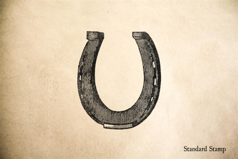 Good Luck Horseshoe Rubber Stamp