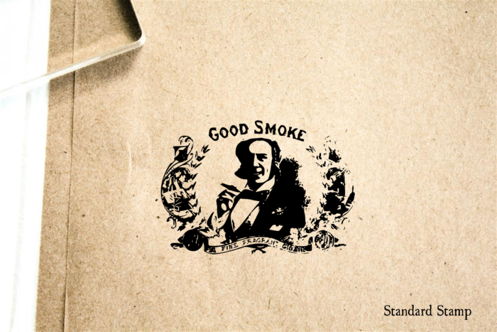 Good Smoke Sign Rubber Stamp
