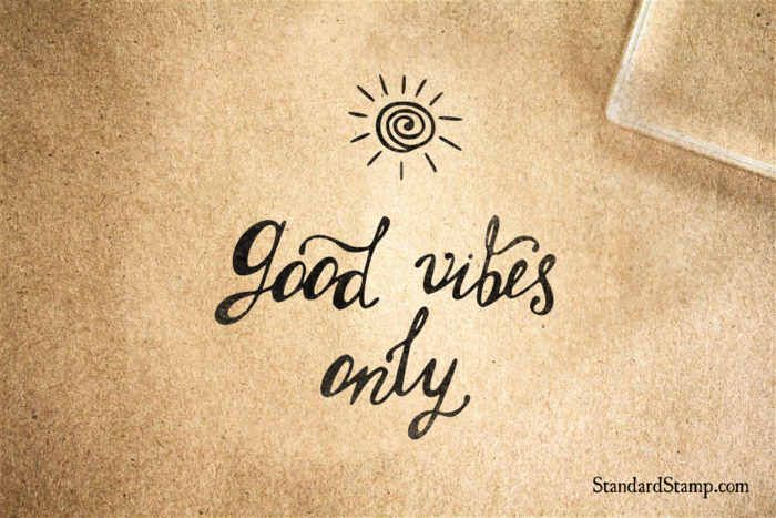 Good Vibes Only Sunshine Rubber Stamp