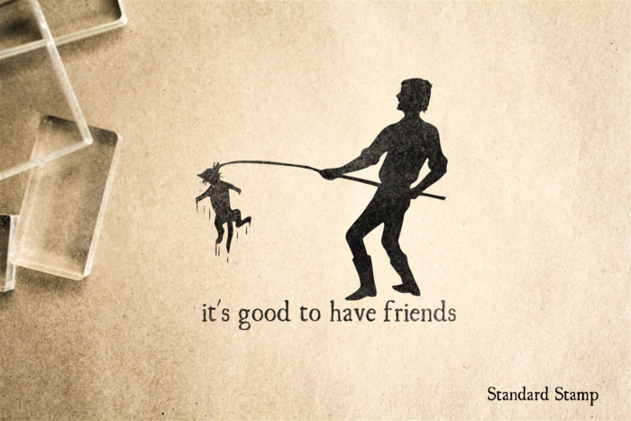 Good to Have Friends Rubber Stamp
