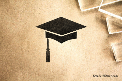 Graduation Hat Rubber Stamp