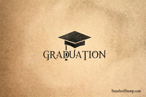 Graduation  Rubber Stamp
