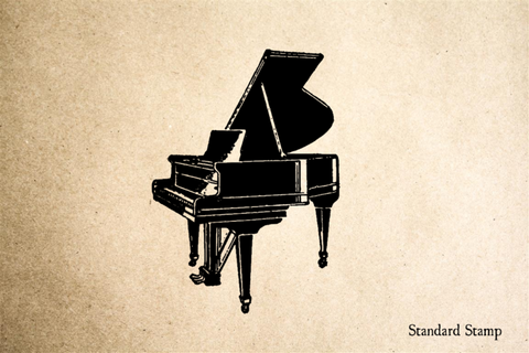 Grand Piano Rubber Stamp