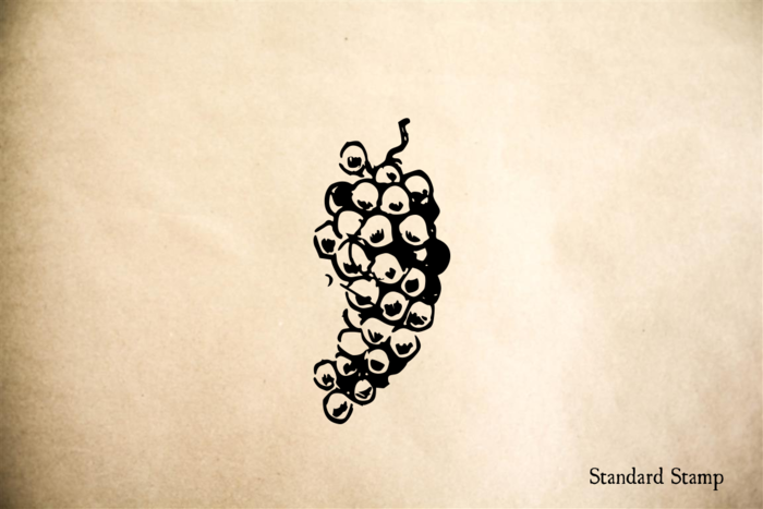 Grapes Rubber Stamp