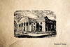 Greek Building Rubber Stamp