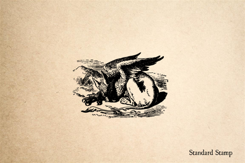 Griffin Sleeping Rubber Stamp