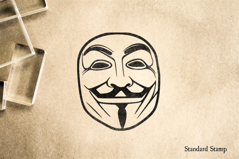 Guy Fawkes Mask Rubber Stamp