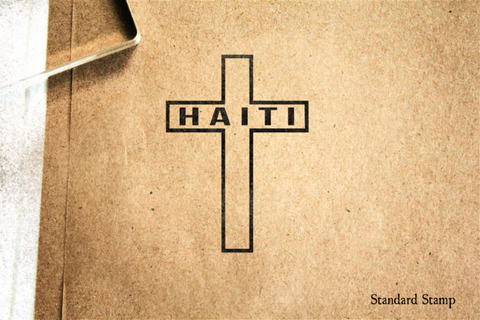 Haiti Cross Rubber Stamp