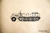 Halftrack Rubber Stamp