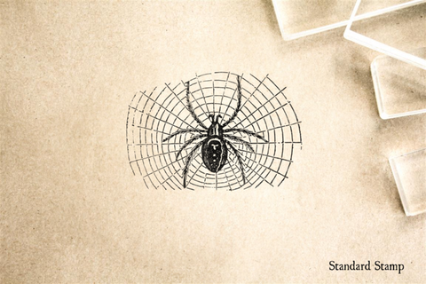 Halloween Hairy Spider Rubber Stamp
