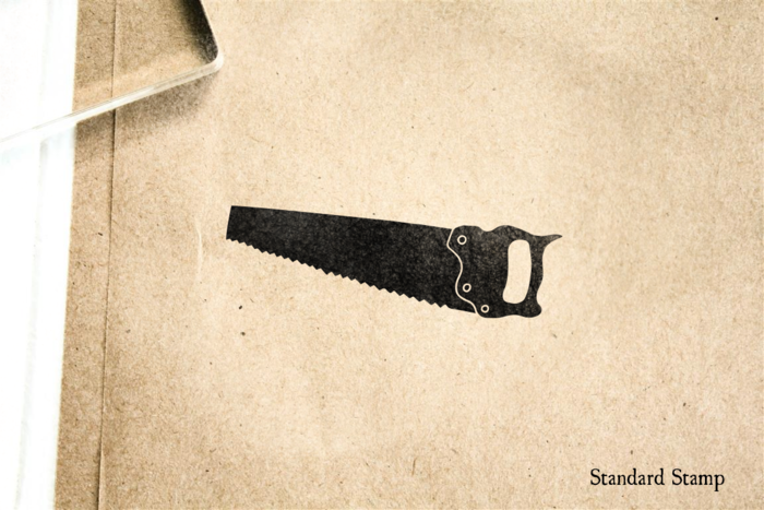 Hand Saw Rubber Stamp