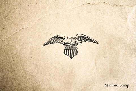 Handdrawn American Eagle Rubber Stamp