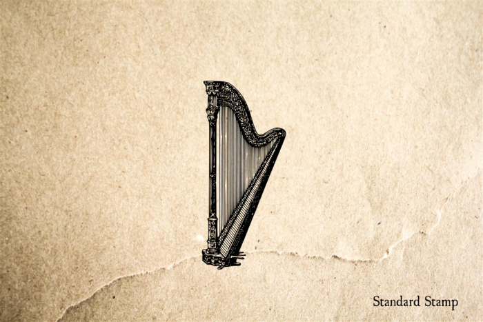 Harp Classic Rubber Stamp